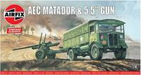 AEC Matador & 5.5inch Gun 1:76 Vintage Classic Military Air Fix Model Kit