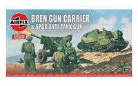 Bren Gun Carrier & 6PDR Anti-Tank Gun 1:76 Vintage Classic Military Air Fix Model Kit