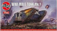 WWI Male Tank Mk.I 1:76 Vintage Classic Military Air Fix Model Kit