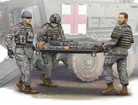 Military Modern U.S. Army Stretcher Ambulance Team