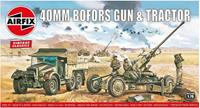 Bofors 40mm Gun & Tractor 1:76 Vintage Classic Military Air Fix Model Kit