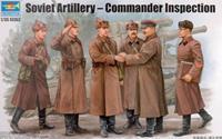 Military Soviet Artillery Commander Inspection