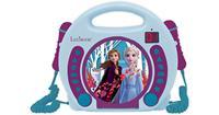 Lexibook RCDK100FZ Disney Frozen II CD Player with Microphones UK Plug