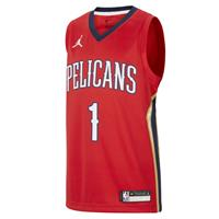 Jordan New Orleans Pelicans Statement Edition Swingman  NBA-jersey voor kids - Rood