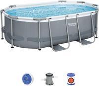 Bestway Power Steel Oval zwembad - 305 x 200 x 84 cm - met filterpomp en accessoires