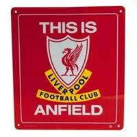 Taylors Football Souvenirs Liverpool Bord Metal - Rood/Wit