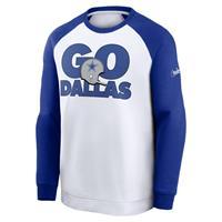 Nike Go Helmet Historic Raglan (NFL Dallas Cowboys) Sweatshirt voor heren - Wit