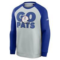 Nike Historic Raglan (NFL Patriots) Sweatshirt voor heren - Grijs