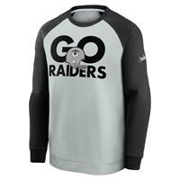 Nike Historic Raglan (NFL Raiders) Sweatshirt voor heren - Grijs