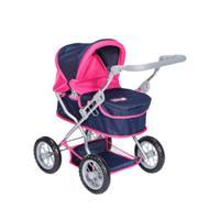 knorr speelgoed poppenwagen First flying heart s navy/roze