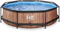 Wood zwembad - 300 x 76 cm - met filterpomp