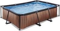 Wood zwembad - 220 x 150 x 65 cm - met filterpomp