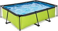 EXIT Lime zwembad - 220 x 150 x 65 cm - met filterpomp