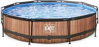 EXIT Wood zwembad - 360 x 76 cm - met filterpomp