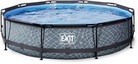 EXIT Stone zwembad - 360 x 76 cm - met filterpomp