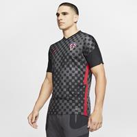 Nike Kroatië 2020 Stadium Uit Voetbalshirt voor heren - Zwart