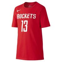 Icon NBA Rockets (Harden) Basketbalshirt voor jongens - Rood