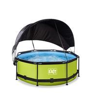 EXIT 244x76 cm - 12v cartridge filter - zwembad met zonnedak