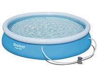 Bestway FastSet zwembad 457x84cm + pomp
