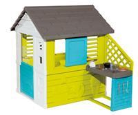 Smoby speelhuis met keuken 145 x 110 x 127 cm lime 17 delig