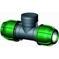 """Express T-stuk 90 graden met binnendraad - buiskoppeling - 32 x 3/4"""" x 32 mm"""