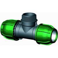 """Express T-stuk 90 graden met buitendraad - buiskoppeling - 32 x 1"""" x 32 mm"""