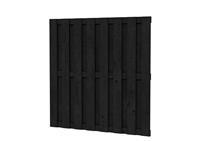 Hillhout Plankenscherm Grenen 15-planks Zwart geïmpregneerd 180 x 180 cm