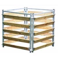 express Compostbak Hout/Metaal 100 x 100 x 100 cm
