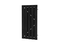 Plankendeur Zwart geïmpregneerd Verstelbaar frame 100x180cm