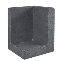 Gardenlux L-element hoek zwart 30x30x40 cm