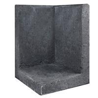 Gardenlux L-element hoek zwart 40x40x60 cm