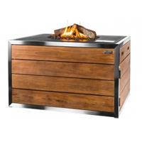 Happycocooning Happy : CT Stainless Steel/Teak Lounge Dining Rechthoek - Zwart
