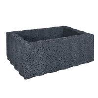 Gardenlux 2 stuks! Ridgeflor groot zwart 60x40x25 cm
