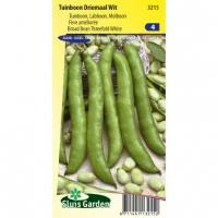 Tuinboon zaden Driemaal Wit 180 gram
