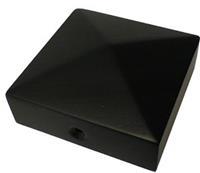 Paalornament voor tuinpaal zwart 71mm