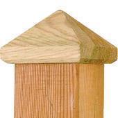 Paalornament voor tuinpaal hout 80mm