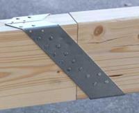 Gordinglas 63x160mm houtverbinding, verzinkt