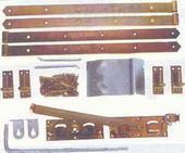 Tuinpoortbeslag dubbel, overslaggrendel