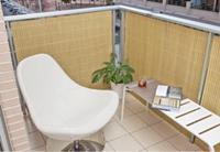 Tuinscherm tuinafscheiding balkonscherm kunststof PVC bamboe 1x5m