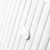 Tuinscherm tuinafscheiding balkonscherm kunststof PVC wit 1x5m