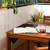 Tuinscherm tuinafscheiding kunststof PVC wit 150x500cm