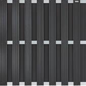 Tuinscherm schutting composiet antraciet alu 180x180cm