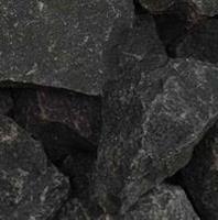 Breukstenen siersplit zwarte Basalt 1500kg.