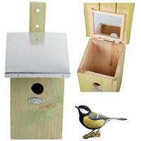 Bestforbirds Spiegel koolmees vogelhuisje