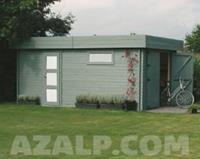 Garage Modern 3580x5380 Houten poort