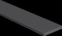 CarpGarant Loopdekdeel massief antraciet zwart 2,3x19,6x300 cm