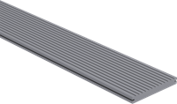 CarpGarant Loopdekdeel massief lichtgrijs 2,3x19,6x300 cm