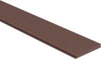 CarpGarant Loopdekdeel massief donkerbruin 2,3x19,6x300 cm