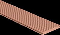 CarpGarant Loopdekdeel massief bruin 2,3x19,6x300 cm