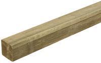 Woodvision Geschaafde paal Grenen 68 x 68 mm 400 cm